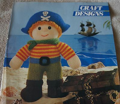 Jolly Roger Pirate  Vintage Knitted Toy Pattern