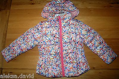RRP £30 BNWT NEXT 5 years GIRLS BUTTERFLY JACKET PINK/BLUE HOOD!