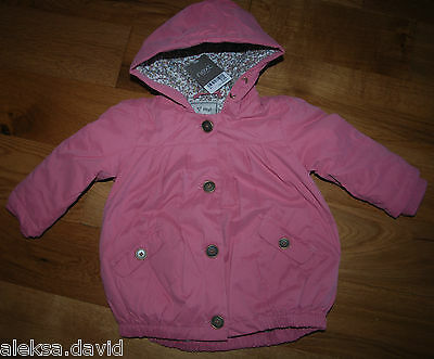 RRP £ 28 BNWT NEXT 3-4 years girl PINK PARKA JACKET WITH FUR LINING!