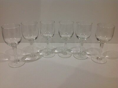 6 victorian sherry / wine drinking glasses