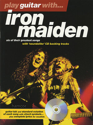 Play Guitar with Iron Maiden TAB Music Book & Play-Along Backing Tracks CD