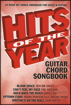 Hits of the Year Guitar Chord Songbook 2015 Sia James Bay Sam Smith Ed Sheeran
