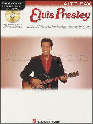 Elvis Presley Instrumental Play-Along for Alto Sax Sheet Music Book with CD