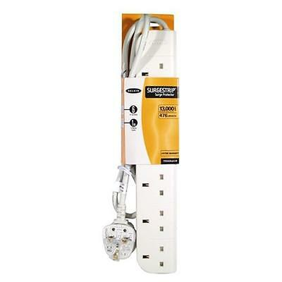 Belkin E-Series 6 Socket, 1-Metre Strip Extension lead / Surge Protector - White