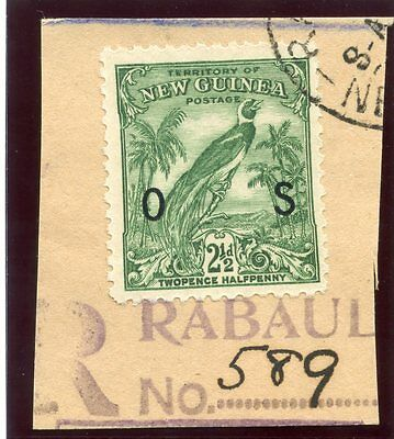 New Guinea 1934 Official 2½d green very fine used. SG O45. Sc O26.