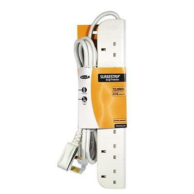 Belkin E-Series 6 Socket, 3-Metre Strip Extension lead / Surge Protector - White