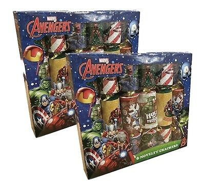 12 x 30CM MARVEL AVENGERS CHRISTMAS CRACKERS DINNER TABLE PARTY DECORATIONS 0361