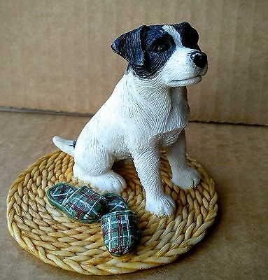 A resin model of a Jack Russell terrier
