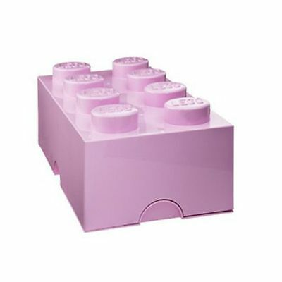 Lego Storage Brick 8 Light Pink Storage Box Kids Bedroom Official New Free P+P