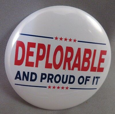 WHOLESALE LOT OF 22 DEPLORABLE AND PROUD OF IT TRUMP BUTTONS to be PRESIDENT '16