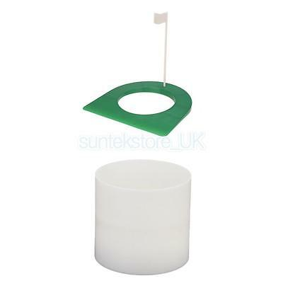 Backyard Indoor Golf Regulation Putting Cup with Flag & Golf Hole Cup
