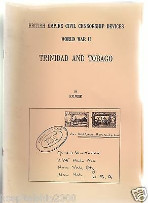Trinidad And Tobago: Civil Censorship Devices Wwii: Wike