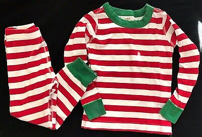 boys girls RED WHITE GREEN CHRISTMAS PAJAMAS stripes 3T HANNA ANDERSSON super @@