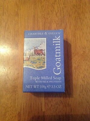 Brand New in box CRABTREE & EVELYN Goatmilk Triple Milled Soap Gift Idea