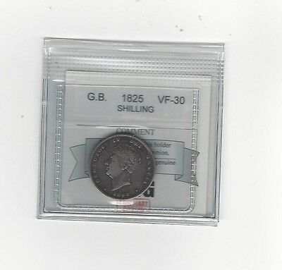 **1825**Great Britain, Shilling, Coin Mart  Graded**VF-30**