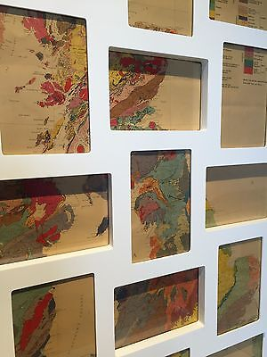 Art Map from Original Antique Geological Map of Great Britain -In NEW FRAME