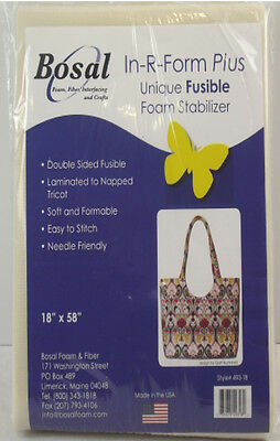 NEW | Bosal 3500-02 | Double-Sided Fusible In-R-Form Foam Stabiliser 45cmx145cm
