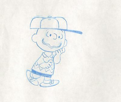 Peanuts Charlie Brown Feature Production Animation Cel drawing 1976 2*