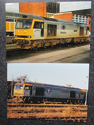 RAILWAY  PHOTOS(Large Format) class 60 diesel selection