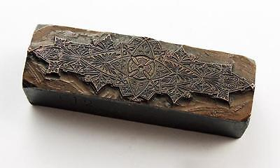 VICTORIAN GOTHIC DESIGN Engraved COPPER PRINTING PLATE