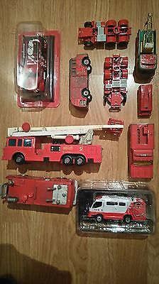Job Lot Dinky Matchbox Del Prado Fire Engines And Trailers