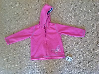 New With Tags Pink Zip Front Hooded Fleece Jacket By Asda George Size 12-18 Mths
