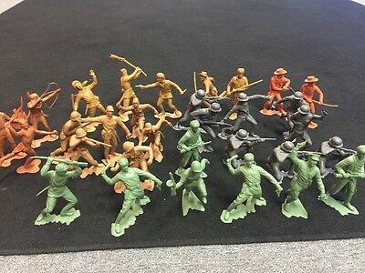 "Large Lot Vintage Marx WWII 6"" Japanese Russian German Soldiers & More"