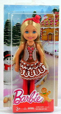 2016 BARBIE CHRISTMAS Chelsea Kelly Gingerbread Doll - Fast Ship!