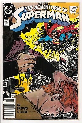 The Adventures Of Superman #445 Original Owner Collection! Mr. D Copy! Ordway!