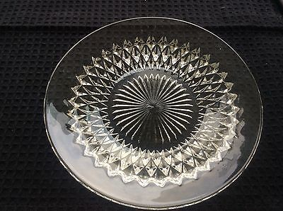 Antique vintage pressed glass dish - collectable decorative item