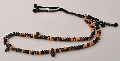 Ebony Islamic prayer beads,muslim Tasbih-Masbaha-Worry Beads