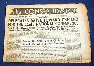 January 29, 1948 The Consolidator Voice of the Consolidation Committee Enginemen