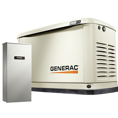 Generac 7030 9kW Home Standby Air Cooled Power Generator W/ 100A Transfer Switch