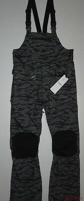 New Volcom Mens Roan 2L Overall Relaxed Fit Bibs Ski Snowboard Bib Pants Large
