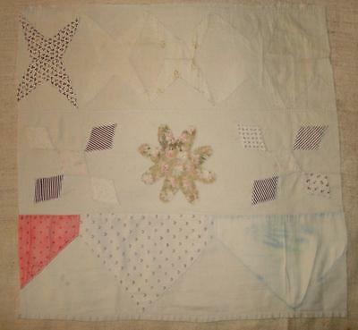 LOVELY PIECE GENTLY FADED 19th CENTURY APPLIQUÉ PATCHWORK QUILT, PROJECTS 4.
