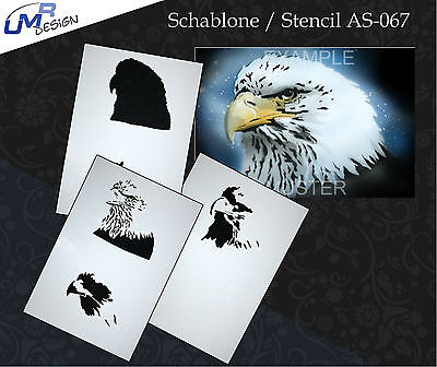 Step by Step Airbrush Stencil AS-067 M ~ Template ~ UMR-Design