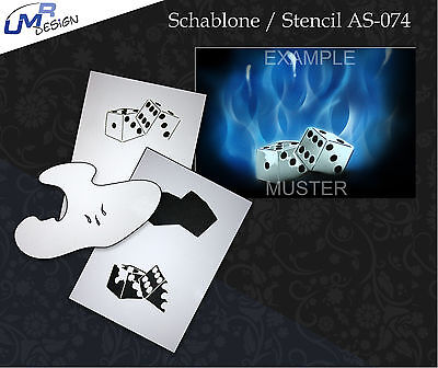 Step by Step Airbrush Stencil AS-074 M ~ Template ~ UMR-Design