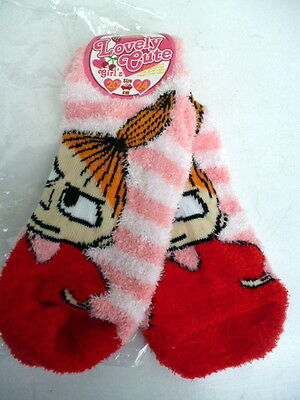 BNWT Moomin Characters Little My Pink Red White Cotton Socks Size 20-24cm