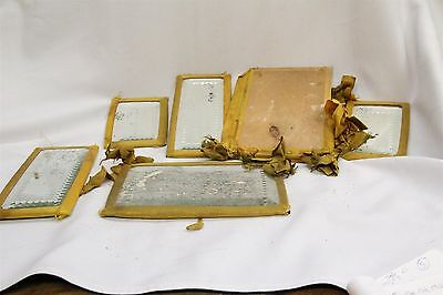 S Vintage Cloth Covered Folding Vanity Table Dressing Mirror Antique Set