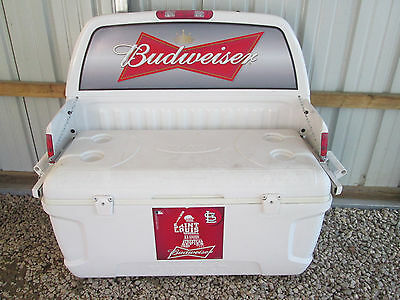 Budweiser Maxcold Igloo Cooler Bench with Back Made in U.S.A.
