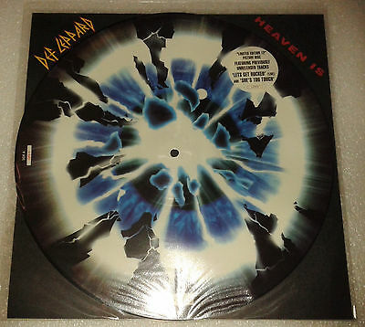 """Def Leppard. Heaven Is. 12"""" single picture disc."""