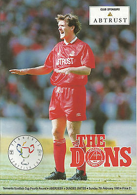 92/93 Scottish Cup Aberdeen v Dundee United