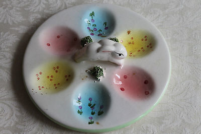Easter Bunny Rabbit Decorative Egg Plate New
