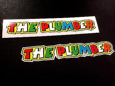 THE PLUMBER Car Helmet Fairing Motorcycle Scooter Stickers Decals 2 off 140mm