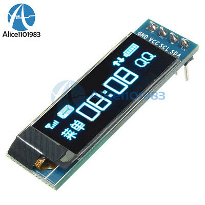 0.91'' 128x32 IIC I2C Blue OLED LCD Display DIY Module DC3.3V 5V For PIC Arduino