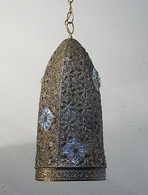 Vintage Antique chandelier Pendant Filigree Bohemian 1960s lamp Light Fixture