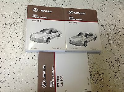 1995 LEXUS ES300 ES 300 Service Shop Repair Workshop Manual SET W Features