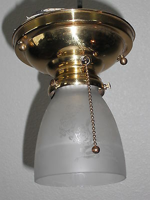 Antique Polished Pull Chain Brass Ceiling Light LT0960 K