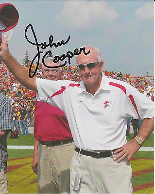 JOHN COOPER Iowa State Cyclones Football Coach SIGNED 8x10 Photo