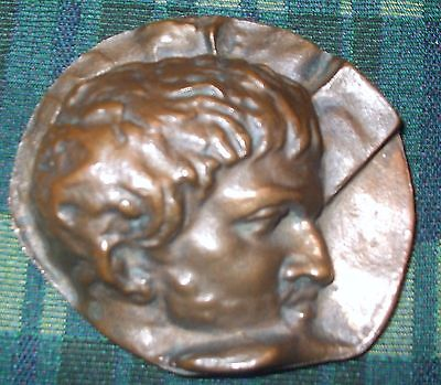 JULIUS CAESAR vintage Bronze Paperweight w/High Relief and Incredible Detail